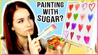 🍭🍬 Edible Art? How to Paint with Sugar | How to make DIY Candy & Lollipops! Sugar Art | makoccino