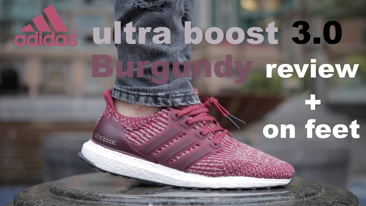 c3d303823c315 ... italy adidas ultra boost 3.0 burgundy review on feet youtube 0e387  435bb ...
