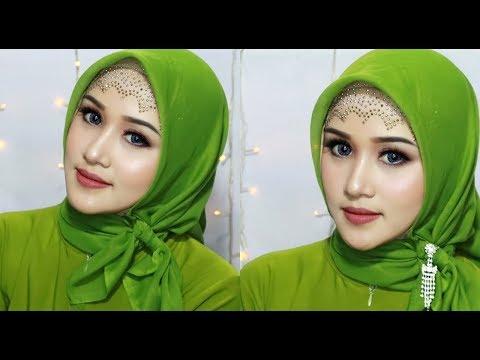 27 Tutorial Hijab Pesta Segi Empat Pashmina Elegan Simple