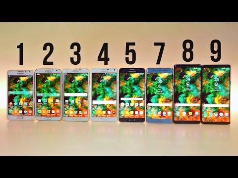 Samsung Galaxy Note 9 vs 8 vs 7 vs 5 vs 4 vs 3 vs 2 vs 1 - ULTIMATE COMPARISON!