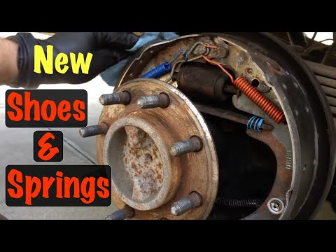 1995 96 97 98 99 GM 8 Lug Full Size Truck Rear Drum Brake Shoes & Springs Replacement (Chevy & GMC)