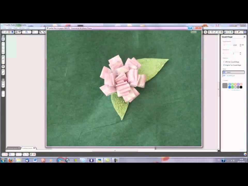 Une Petite Fleur En Papier Youtube