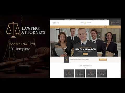 Lawyer Attorneys - Modern Law Firm PSD Template | Themeforest ...