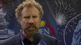 Andy Murray funny interview with Will Ferrell at the US Open 2014 (HD)