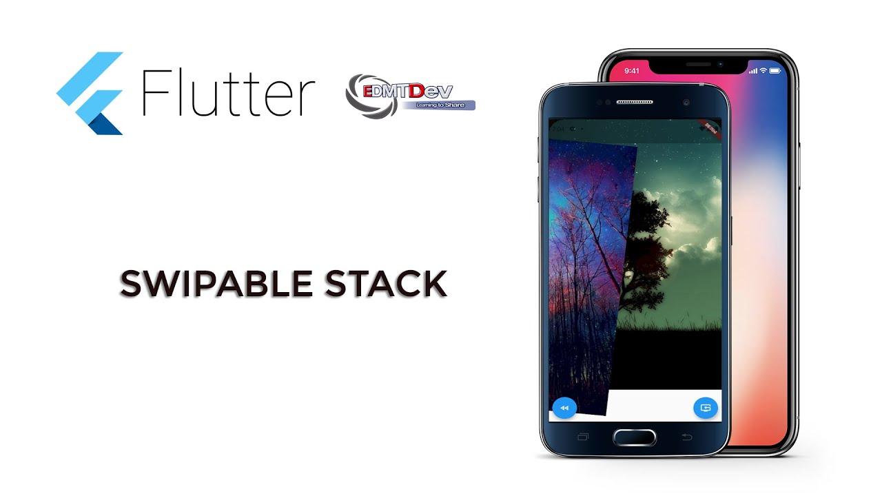 Flutter Tutorial - Swipable Stack