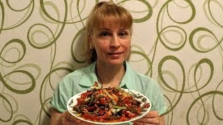 Жареное Мясо по тайски - второе блюдо с овощами на праздничный стол
