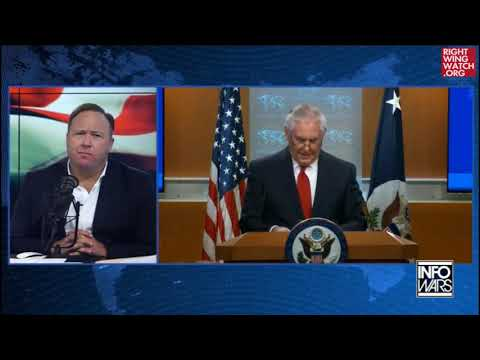 RWW News: Alex Jones Says Rex Tillerson Sent 'Coded' Messages To The 'Deep State' In Speech