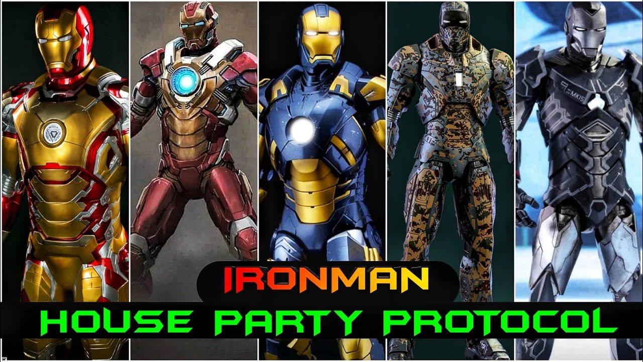 Ironman Mark 8 to Mark 41 Explain (Ironman House party Protocol Armours) in Hindi SUPERBATTLE