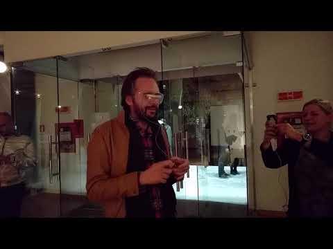 Simultan Festival strobo-vision test subject (Ryan Jordan workshop)