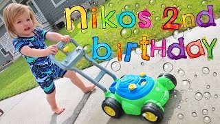 NiKO 2nd BiRTHDAY!!  baby bear is getting big! Ultimate family party with cake, presents, bubbles!