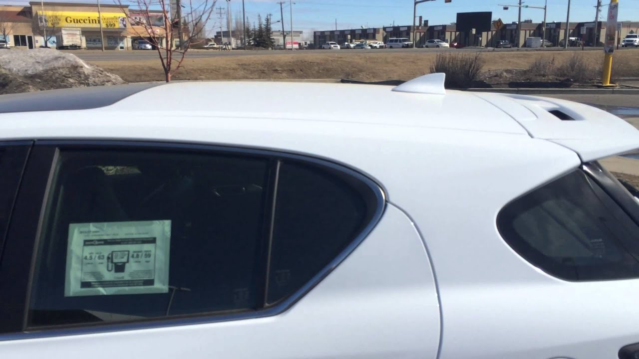 2014 Lexus CT 200h Hybrid F Sport Package Review Ultra White on