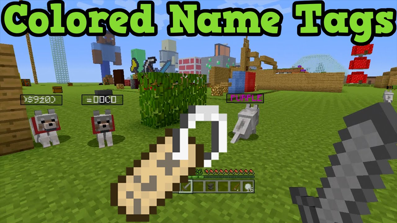 Name Tag Minecraft minecraft xbox 360 / ps3 - coloured name tags - youtube