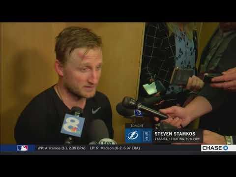 Steven Stamkos -- Tampa Bay Lightning at New Jersey Devils 04/18/2018
