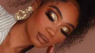 Gold Glitter Smoky Makeup Look | MakeupTiffanyJ