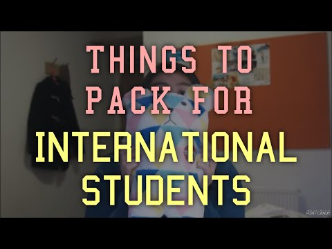 Things to pack for International Students