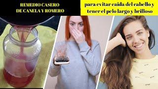 🔽AGUA de ROMERO Y CANELA para DETENER LA CAÍDA del cabello y ACELERAR su CRECIMIENTO 👉CRECE RAPIDO✔😍