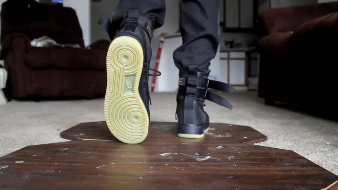 Nike Sf Air Force 1 Black Gum Review On Feet Boogiekazamm Youtube