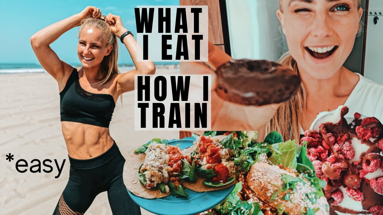 WHAT I EAT IN A DAY (easy) + HOW I WORKOUT AT HOME FOR MUSCLE GROWTH. A topical day in my life