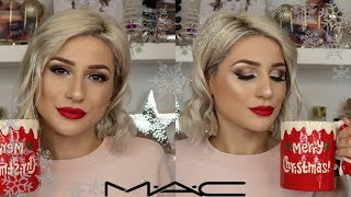ONE BRAND: MAC COSMETICS | CHRISTMAS HOLIDAY GLAM MAKEUP || GIO DREVELI ||