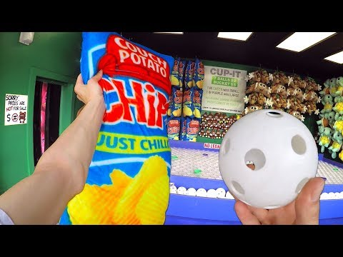 I WON The Carnival Game MAJOR PRIZE! | Using Tricks to Master CUP IT