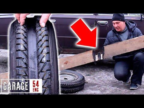 Can A Studded Tire Cut Through A Wooden Plank?