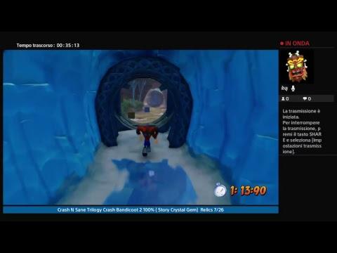 Crash N Sane Trilogy   Crash Bandicoot 2 100% (Story,Crystal,Gem)           Relics 7/27