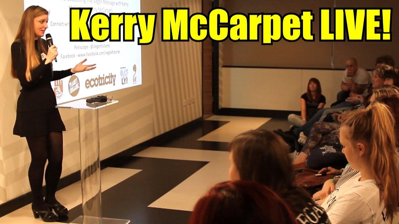 KERRY MCCARPET TALK VEGAN FUTURES!