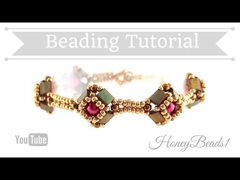 Tilaria Bracelet Easy Beading Tutorial by HoneyBeads1