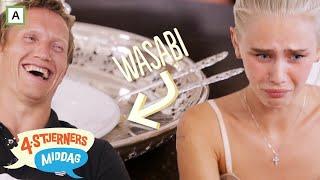 4-stjerners Middag | Amalie Snøløs må spise wasabi | TVNorge