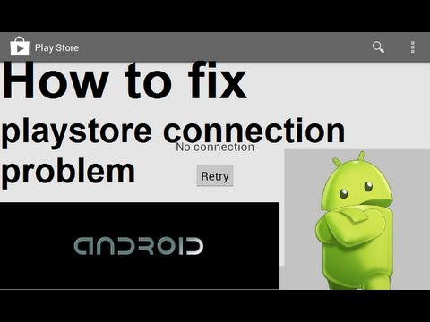 google play no connection problem