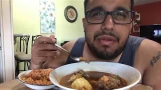 Albondigas Soup MUKBANG | Mexican Food | Meatball Soup | Mexican Rice | Soup Mukbang