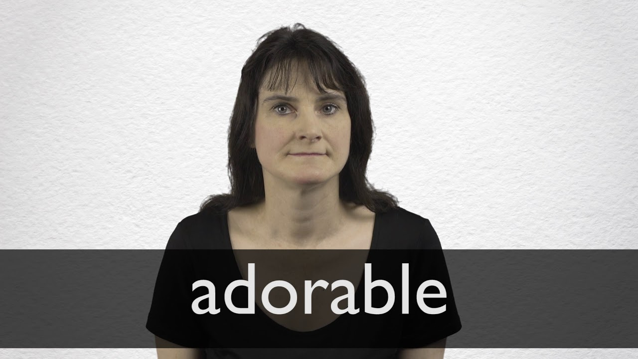 Adorable definition and meaning | Collins English Dictionary