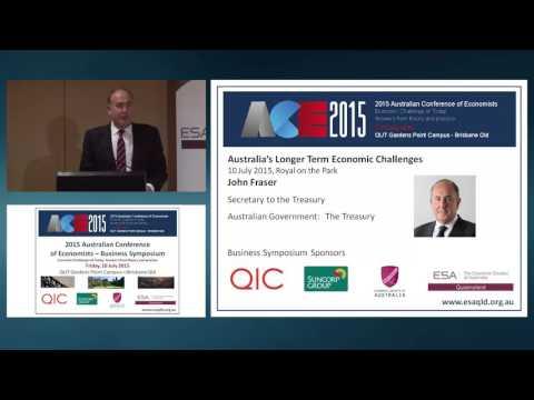 John Fraser - Australia's Longer Term Economic Challenges 10/07/2015