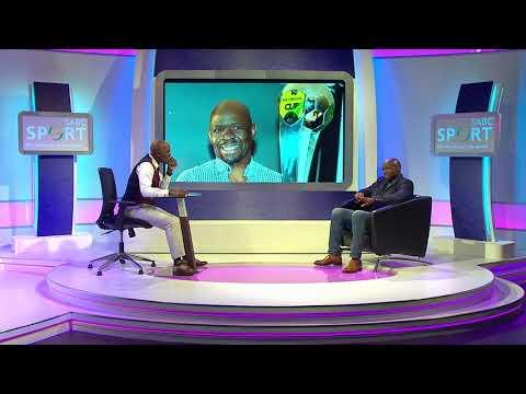 Thomas Mlambo chats to football coach and legend Steve Komphela