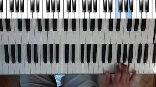 How to play Jon Lord organ solo Highway Star (Machine Head - Deep Purple) Part.1