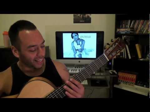 American Boy - Estelle, Kanye West Guitar Lesson Tutorial (Esteban Dias)