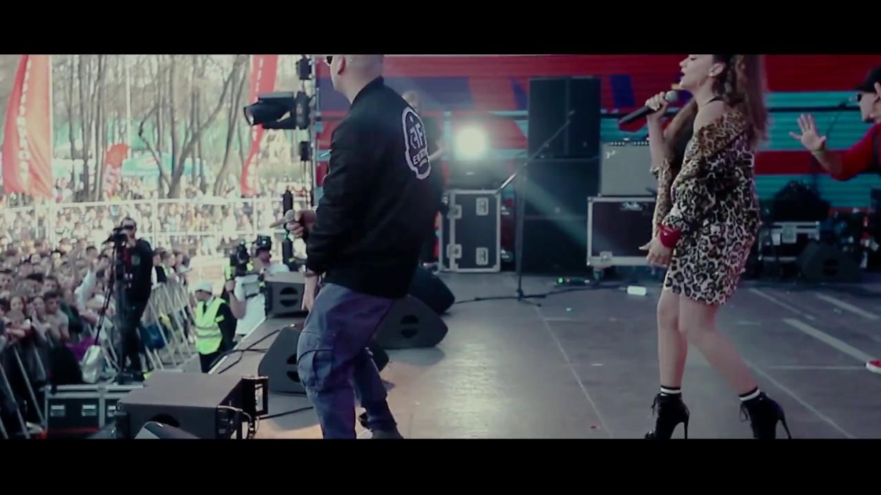 """Настапот на Елена Ристеска и рускиот рапер за песната """"Bitcoin"""" во Москва"""