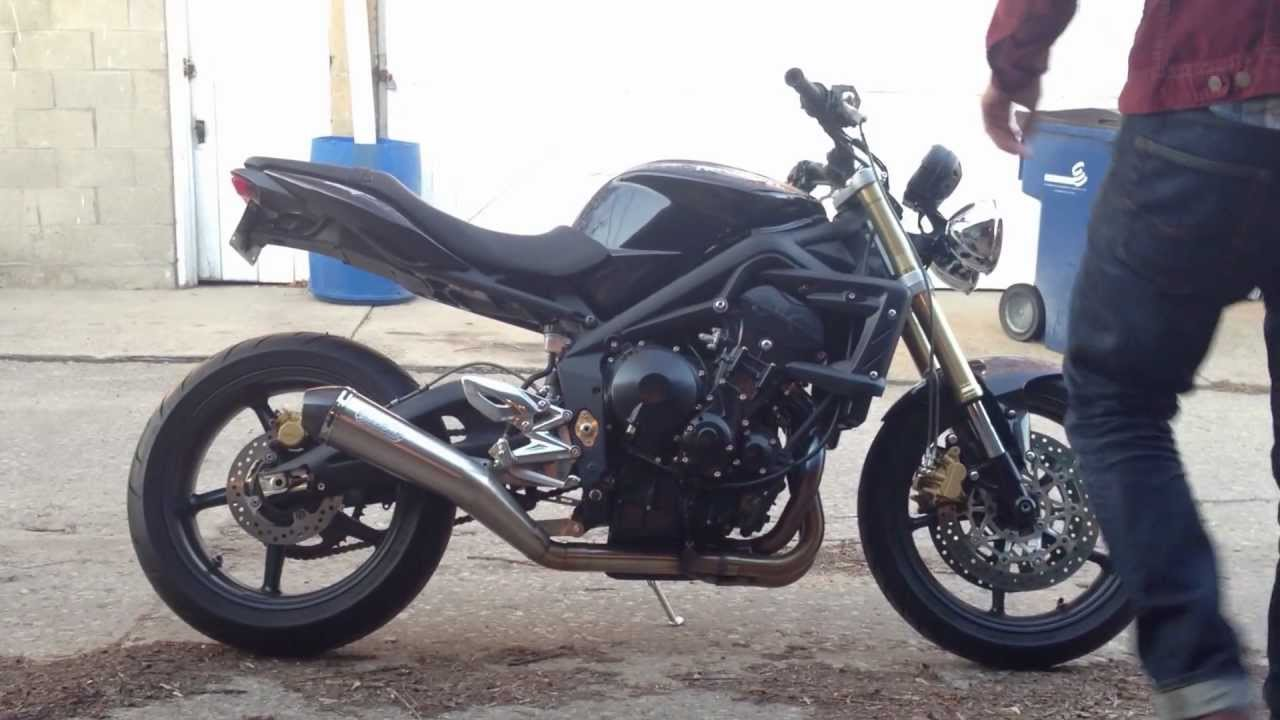 2009 Triumph Street Triple Arrow Exhaust Youtube