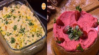 مكرونة بالدجاج - رول الشيكولاتة و جوز الهند - كيكة فراولة  | اميرة في المطبخ حلقة كاملة