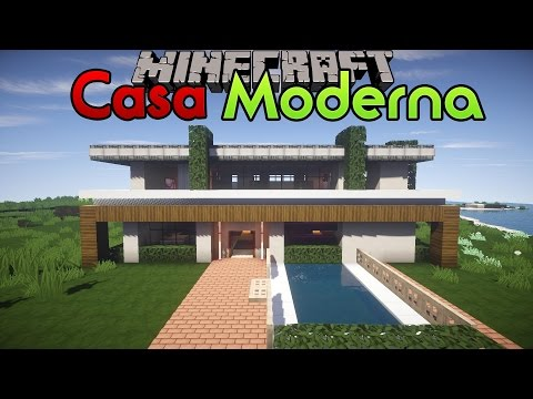 Minecraft ita come costruire una casa moderna da vacan for Casa moderna minecraft ita download