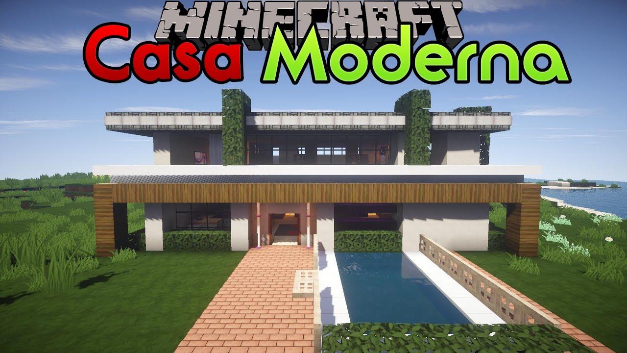 COME COSTRUIRE UNA CASA MODERNA IN MINECRAFT 7  YouTube