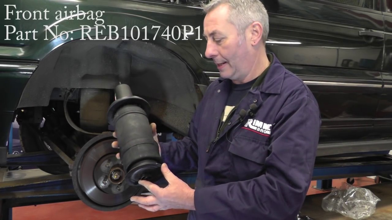 replacing the suspension airbag springs on a range rover p38