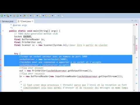 Java - Socket Client / Serveur (minichat)