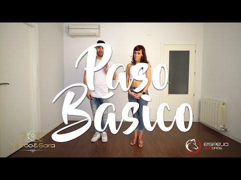 Como bailar Bachata / Pasos basicos de bachata / tutoriales numero 1 Marco y Sara style