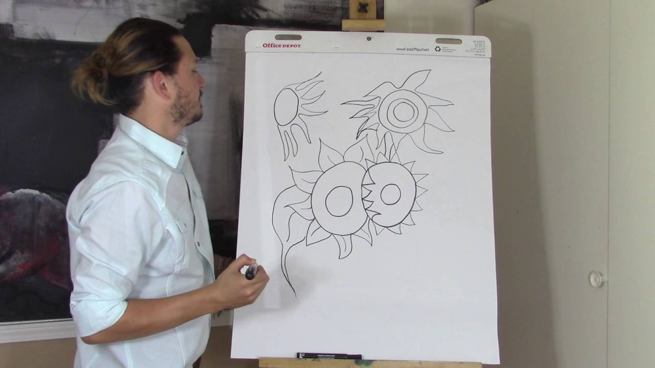 Vincent Van Gogh Sunflowers Drawing Lesson