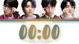BTS (방탄소년단)  -  '00:00 (Zero O'Clock)' LYRICS (Color Coded Lyrics Eng/Rom/Han)