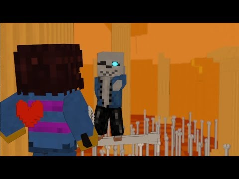 Download Vs Sans full battle Animation  - Minecraft Animation + Undertale