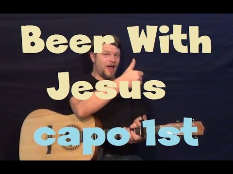 Beer With Jesus (Thomas Rhett) Easy Guitar Lesson Strum Fingerstyle How To Play Tutorial