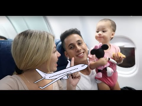 Family Fun Vacation! Kid Airplane Trip Disney Land! Ayla's Family Review Vlog