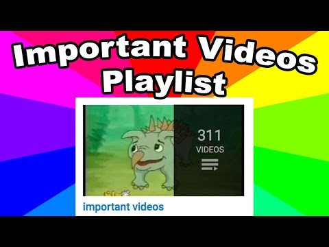 What is the important videos playlist? The origin of the pop
